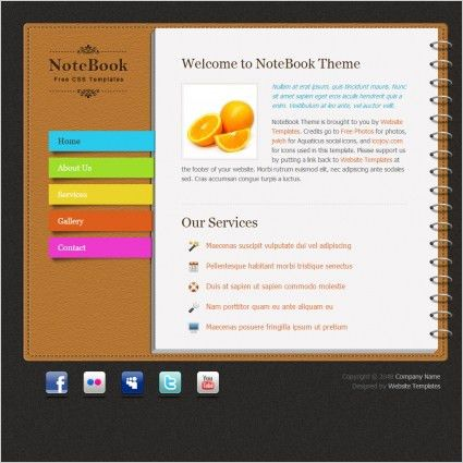 Notebook Free website templates in css, html, js format for free ...