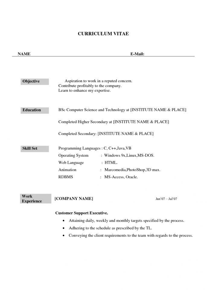 Bpo Resume Download Bpo Resume Resume Template Bpo Fresher Resume ...