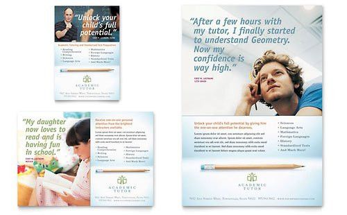 Learning Center & Tutoring | Print Ad Templates | Education & Training