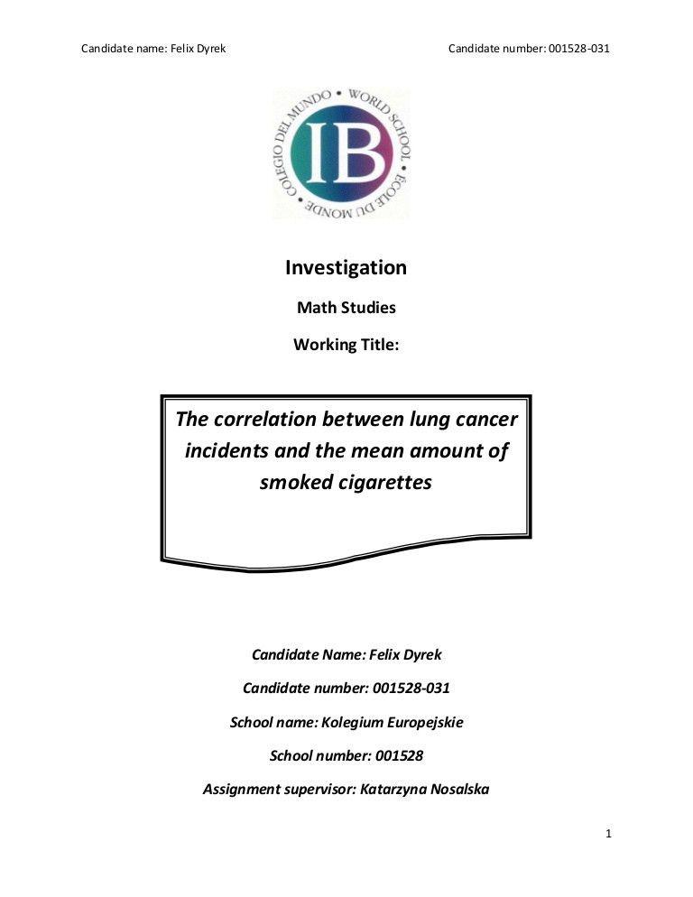 International baccalaureate math sl investigation_the correlation be…