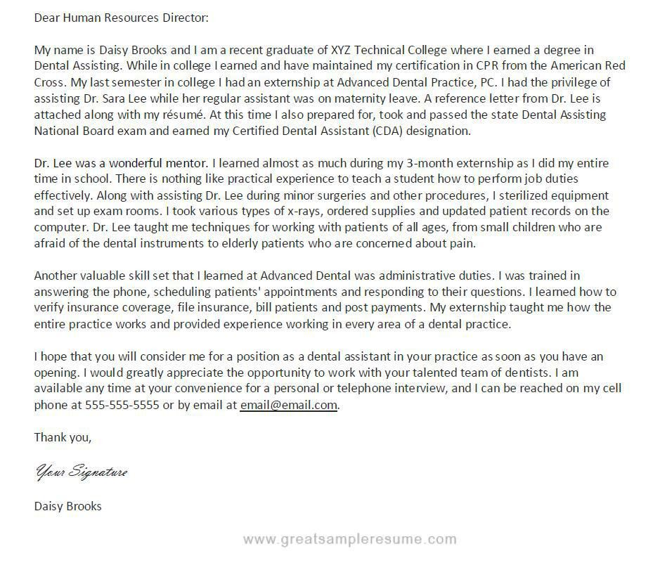 dental assistant cover letter classic dental assistant classic ...