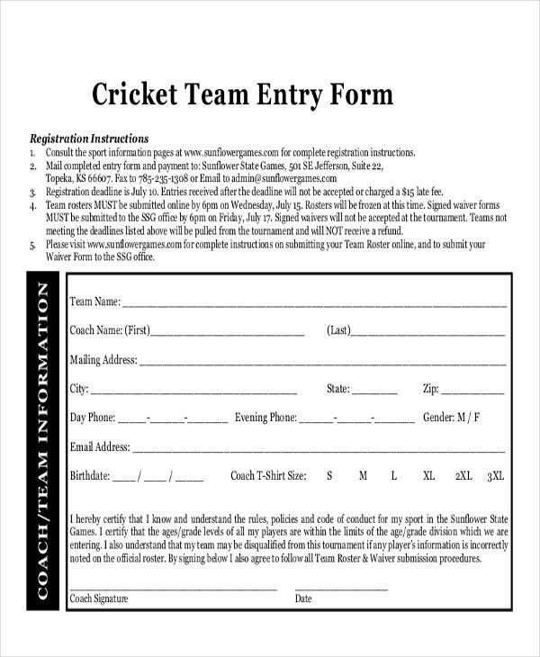 21+ Roster Form Templates 0- FreeSample, Example, Format   Free ...