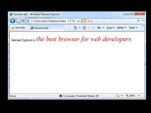 HTML5's missing tag: sarcasm | ReignDesign | Blog