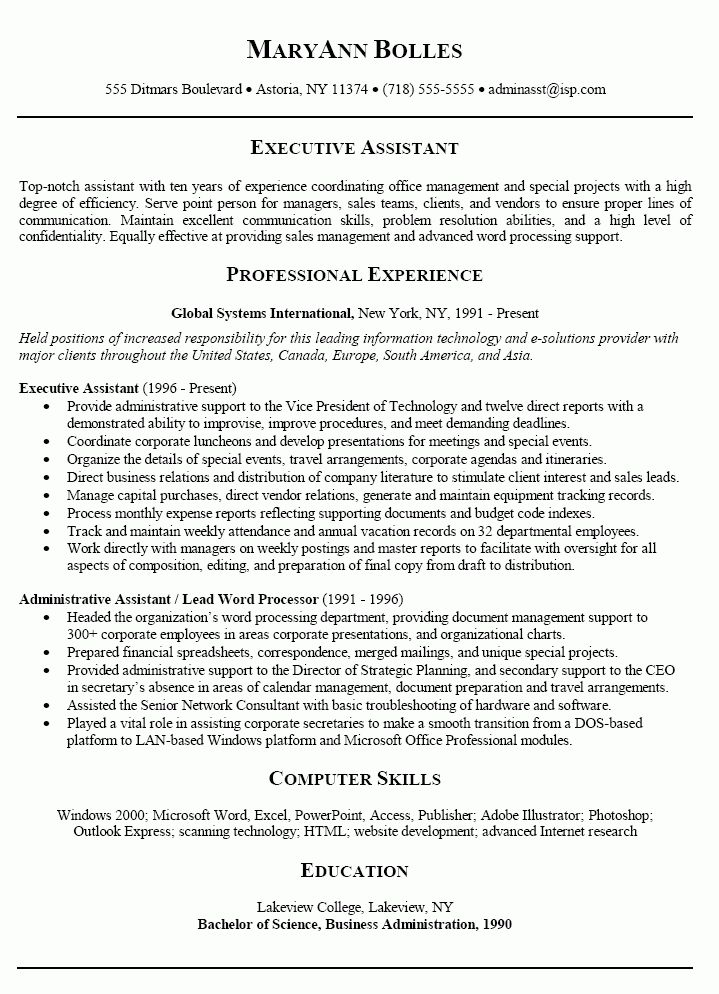 10 Administrative Assistant Resume Format Tips | Writing Resume Sample