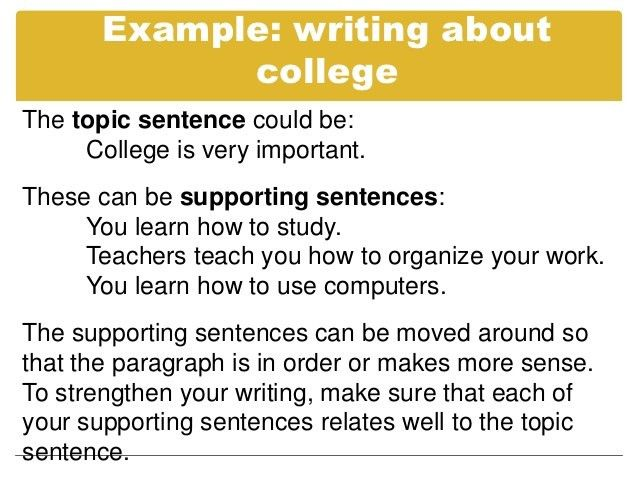 example of topic sentences for essays