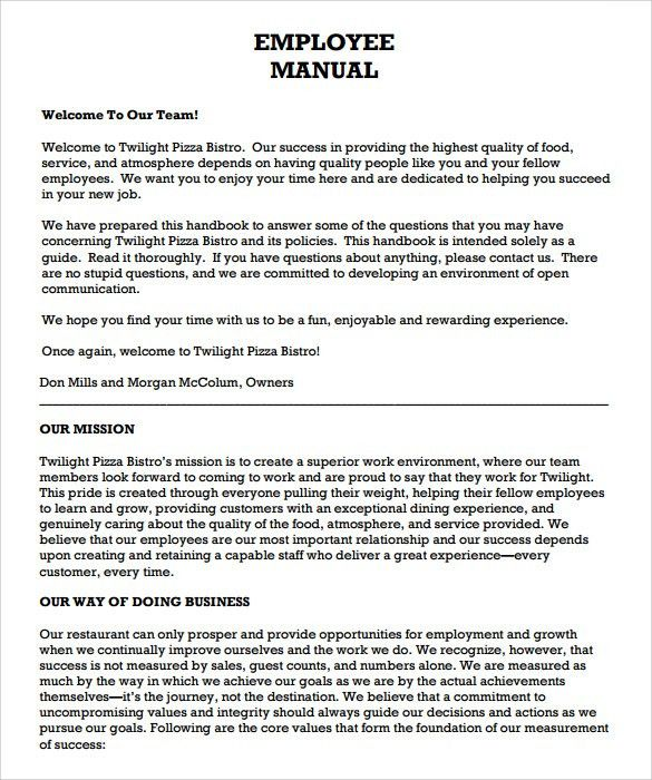 [Employee Handbook Template] Employee Handbook Template Handbook For  Employees Sample, Employee Handbook Template 6 Free Pdf Doc Download, Employee  Handbook ...