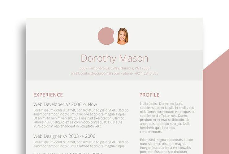 Elegant Resume Template. Traditional Resume Template, Elegant ...