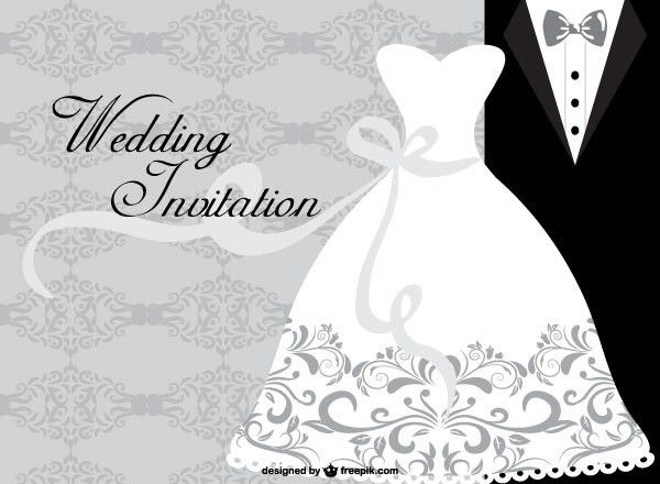 Wedding Dress Card Design Template | Free Vectors | Pinterest ...