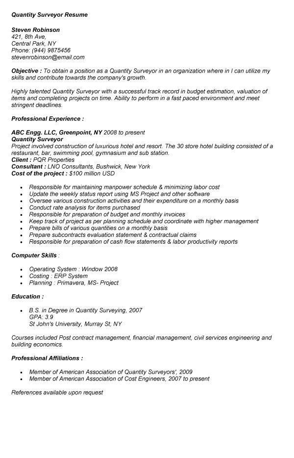 Surveyor Resume - Contegri.com