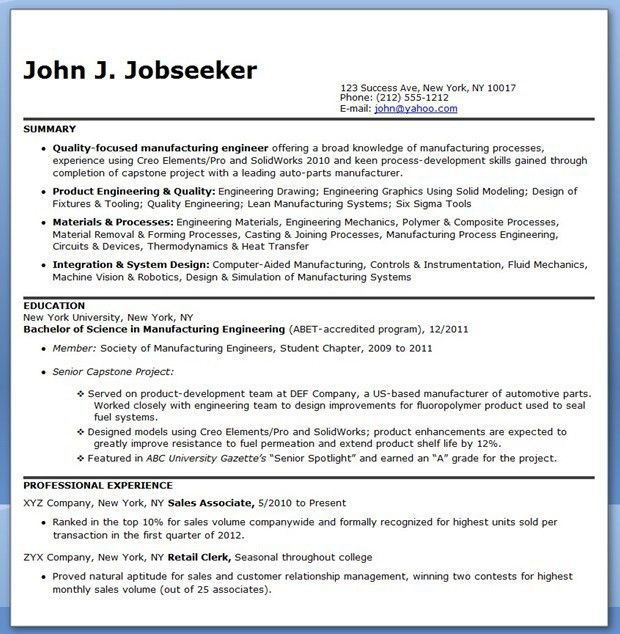 Download Boeing Industrial Engineer Sample Resume ...
