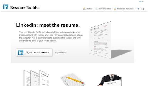 My hackday project is live: The Resume Builder