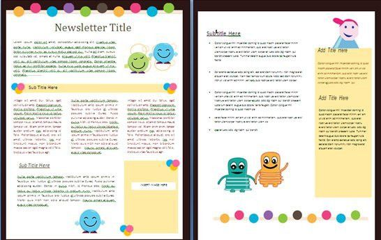 children newsletter template