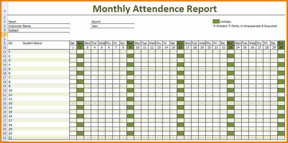 employee attendance sheets