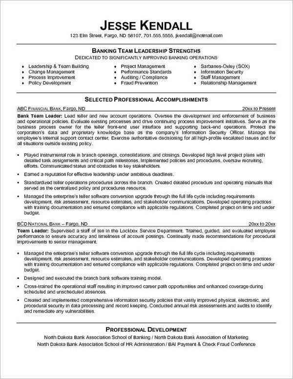 sample resume for bank teller - thebridgesummit.co