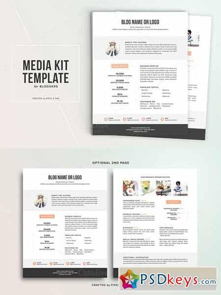 Media Kit Template No.1 324052 » Free Download Photoshop Vector ...