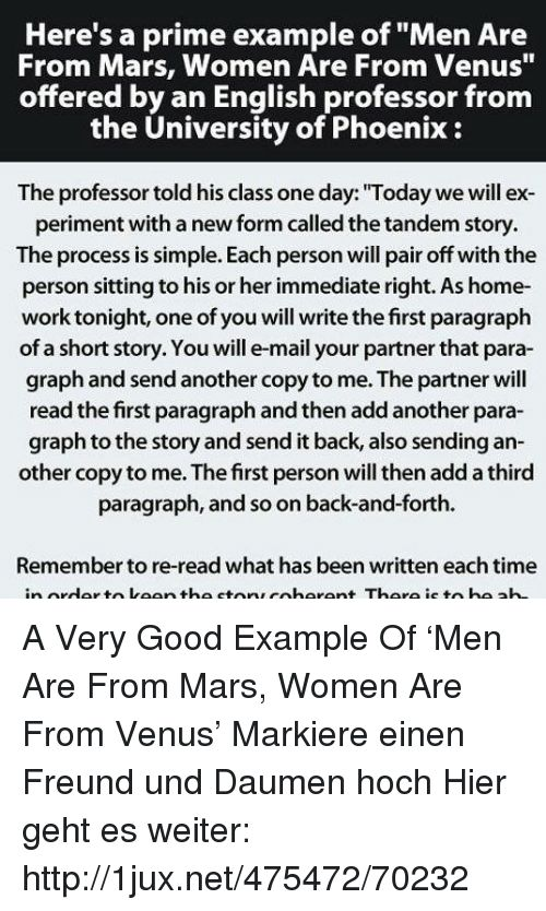 Here's a Prime Example of Men Are From Mars Women Are From Venus ...