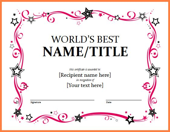 award certificate template word - Sales Report Template