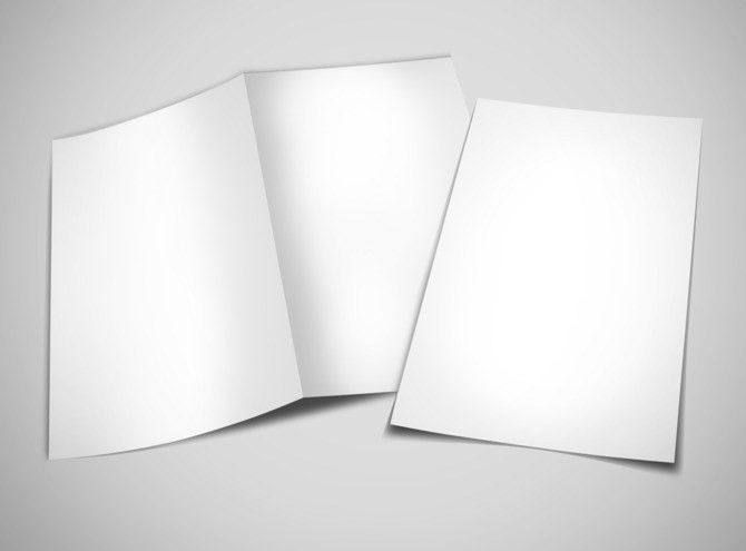 Blank Brochure Templates | MyCreativeShop