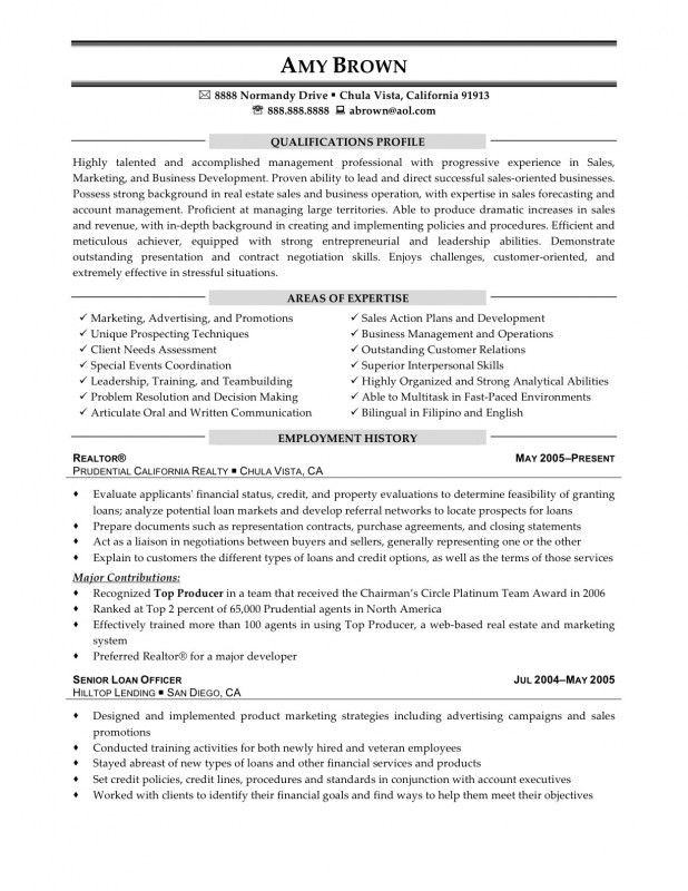 Real Estate Agent Resume. 550712: Sample Realtor Resume – Real ...