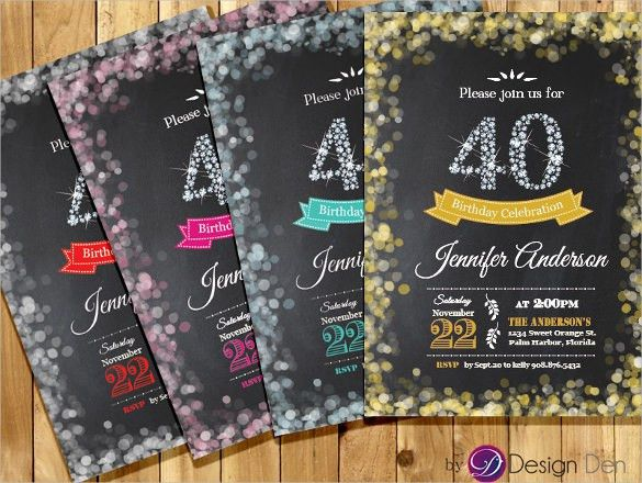 40Th Birthday Invitations - marialonghi.Com