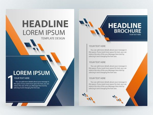 Brochure template design with abstract modern style Free vector in ...