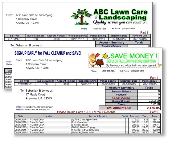 Landscaping & Lawn Invoice Forms