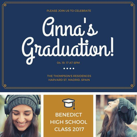 Graduation Invitation Templates - Canva