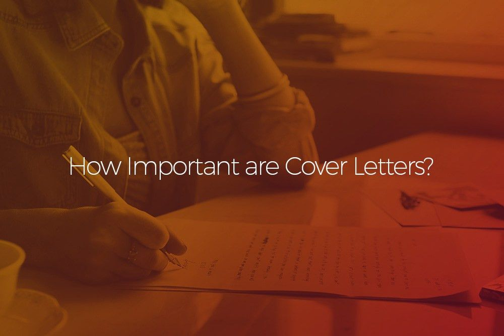 why is a cover letter so important. download are cover letters ...