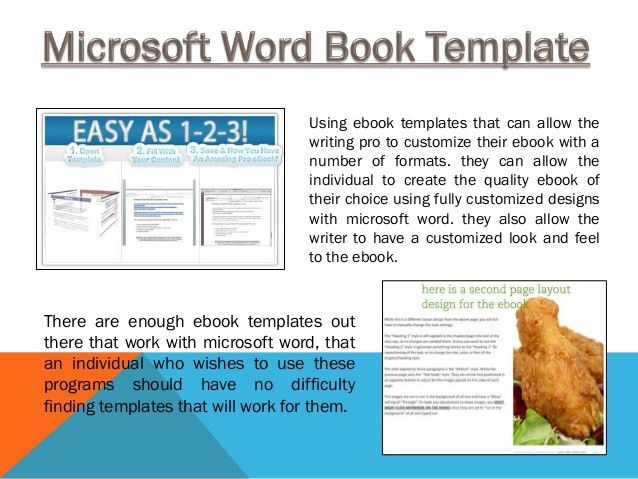 Ms word ebook template
