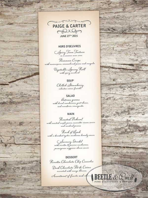 9+ Cocktail Party Menu - Designs, Templates   Free & Premium Templates