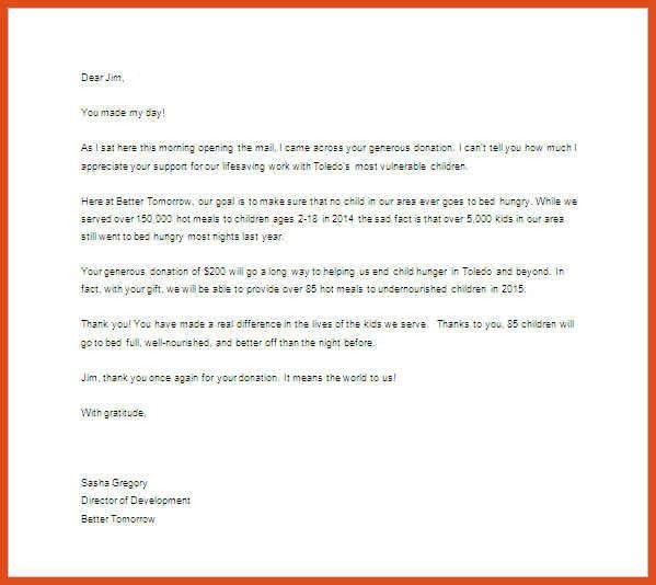 donation thank you letter format. goodly thank you for your ...