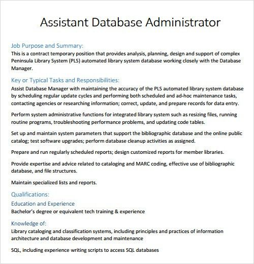 Database Specialist Sample Resume Database Administrator Resume - kronos systems administrator resume