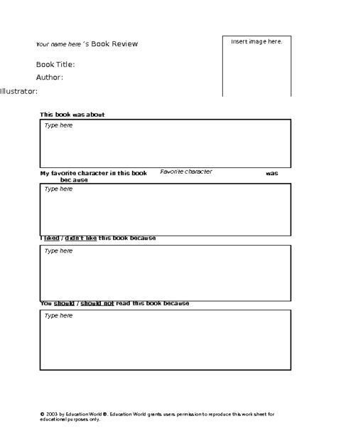 Book Review Template. Writing Book Report 4Th Grade Simple Book ...