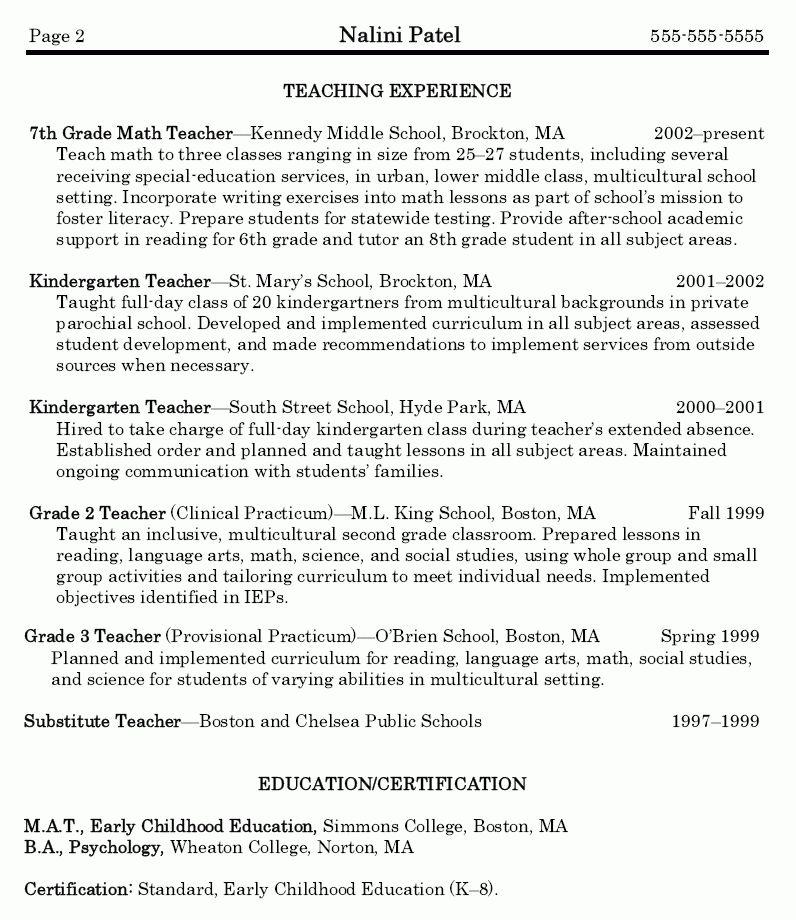 Math Teacher Resume - Math Teacher Resume Sample