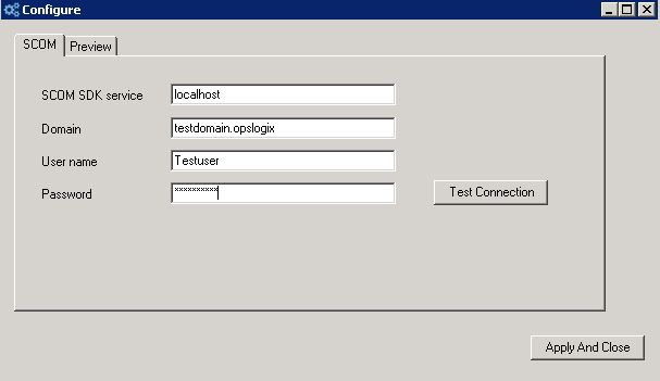 Figure 12. Configure the connection between ProView and Operations ...