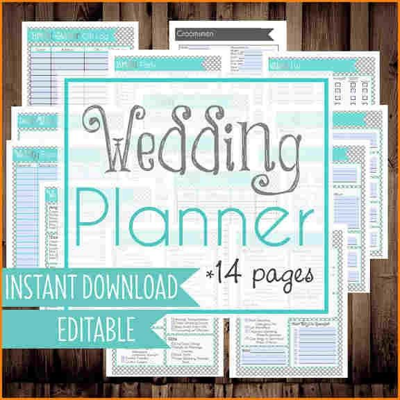 7+ free wedding planner printables | wedding spreadsheet