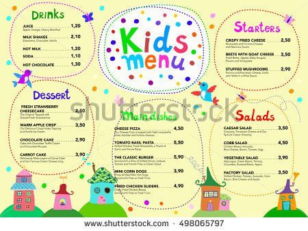 Kids Menu Templates - Download Free Vector Art, Stock Graphics ...