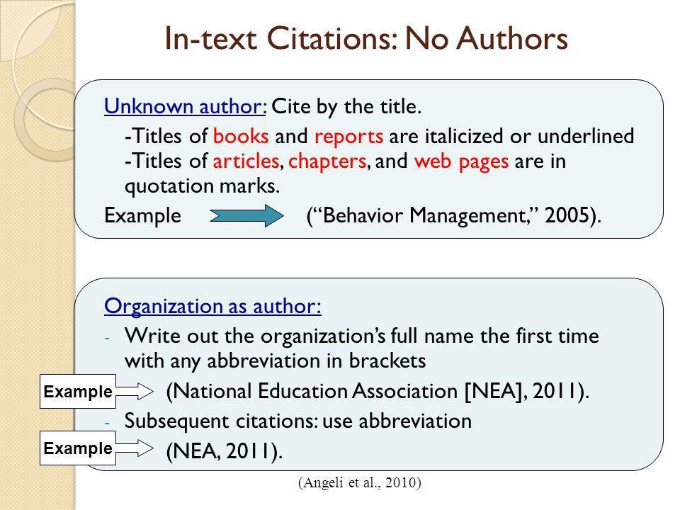 In text citation abbreviations