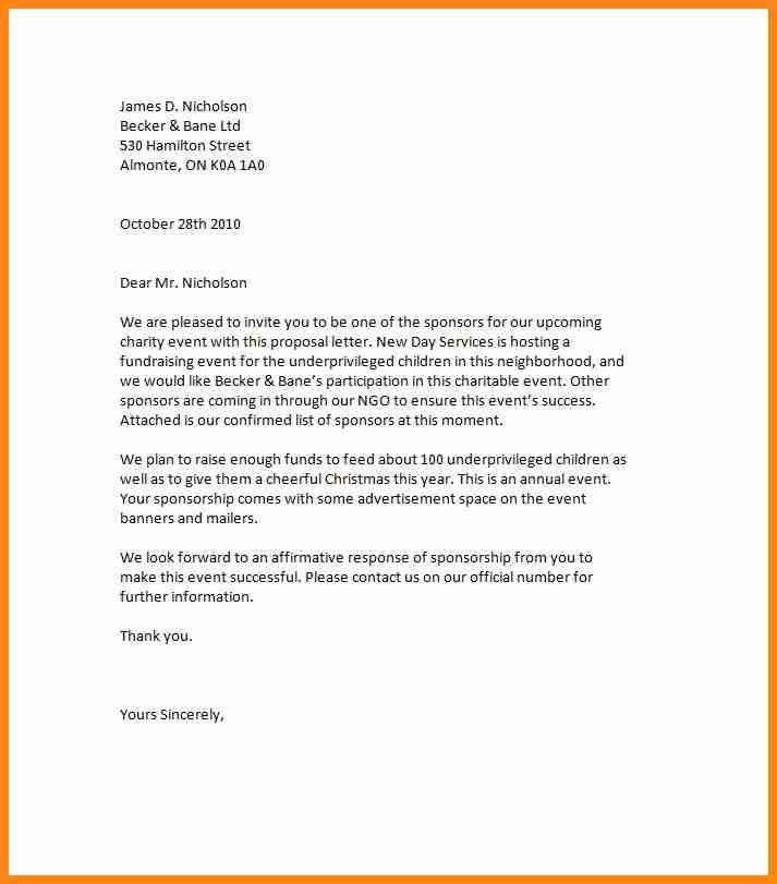 7+ sponsorship proposal letter | model resumed
