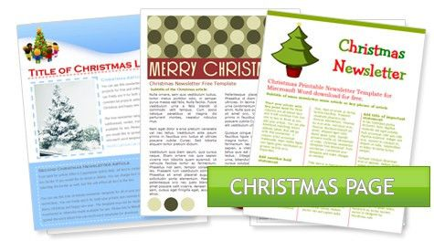 WordDraw.com - Free Holiday Newsletter Templates for Microsoft Word
