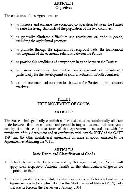 Tunisia-Turkey Free Trade Agreement
