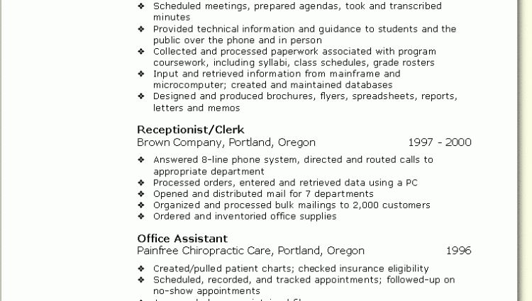 Skill Based Resume Sample Office Assistant objective experience ...
