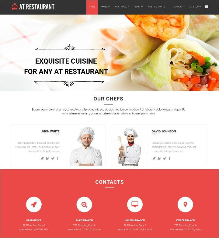 17+ Online Food Ordering & Delivery Website Templates | Free ...