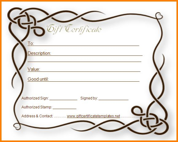 Gift certificate letter template apology for poor service with 9 blank gift certificate template letter template word yadclub Gallery