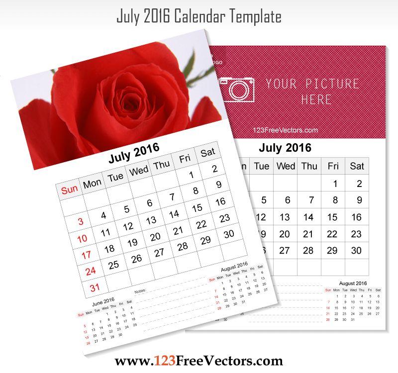 80+ 2016 Calendar Template Vectors   Download Free Vector Art ...