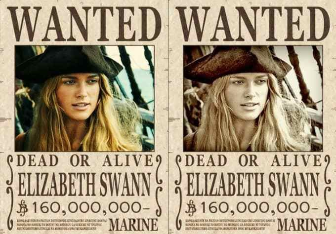 Make 2 super cool one piece wanted posters from your photo by ...
