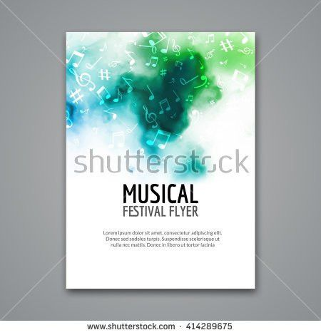 Colorful Vector Music Festival Concert Template Stock Vector ...
