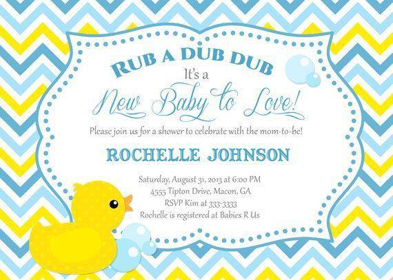 Duck Baby Shower Invitations - vertabox.Com