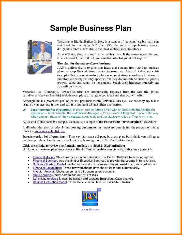4+ example of business plan proposal | Proposal Template 2017