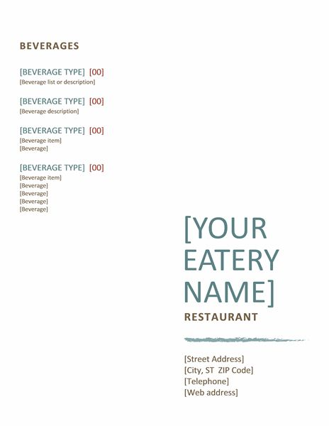 Restaurant Menu Template | Brochure Templates